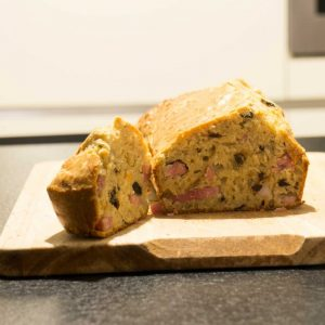 cake olive lardon