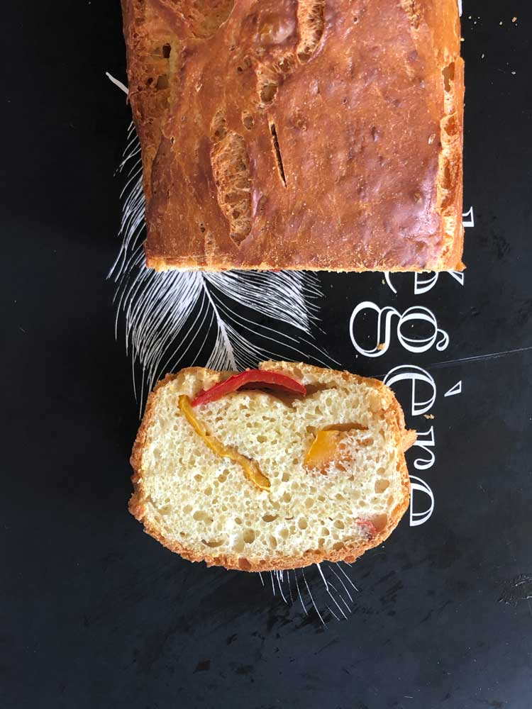 cake poivrons marinés