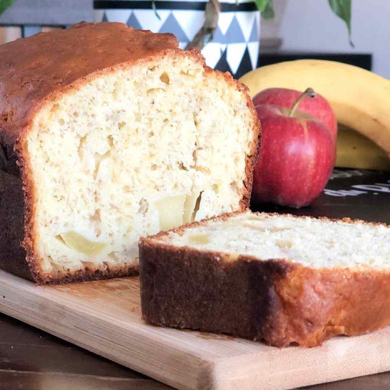 tronche de cake pomme banane